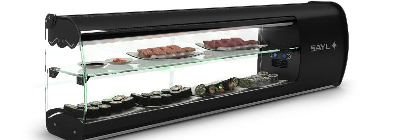 vitrine refrigeree de comptoir modele slim sushi vsl6s. Black Bedroom Furniture Sets. Home Design Ideas
