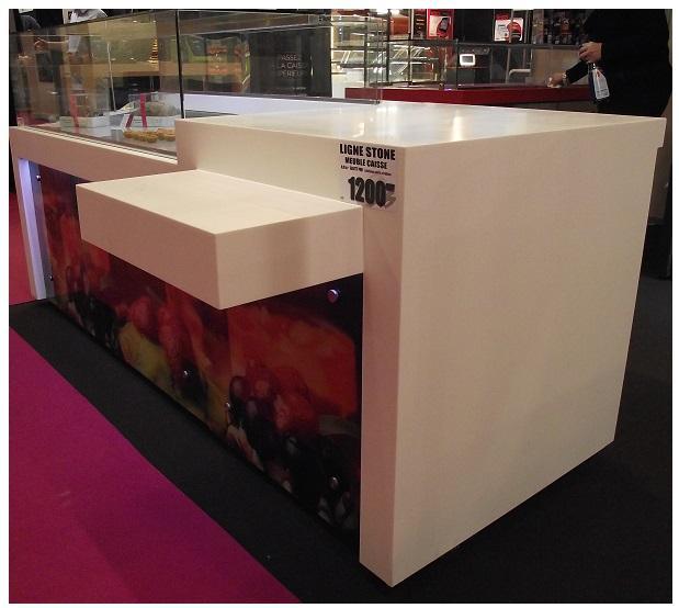 comptoir caisse avec tablette pmr 1m00. Black Bedroom Furniture Sets. Home Design Ideas