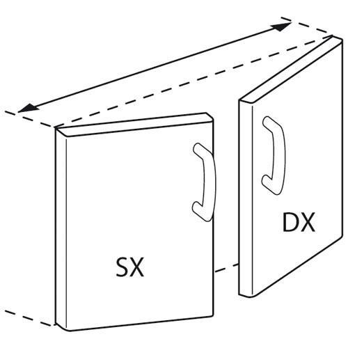 Porte droite ou gauche pour meuble neutre ouvert 400mm p for Porte 73 ou 83